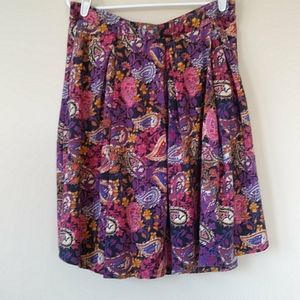 LulaRoe Stretch Pleated Paisley Pull On Skirt 3XL